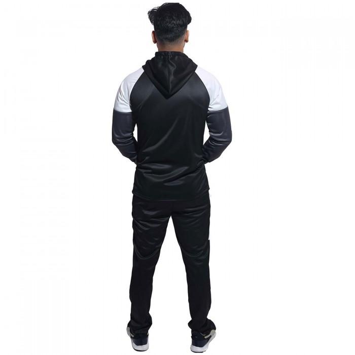 Men Black  Color block Regular Fit Bio-Wash Lifestyle Tracksuit
