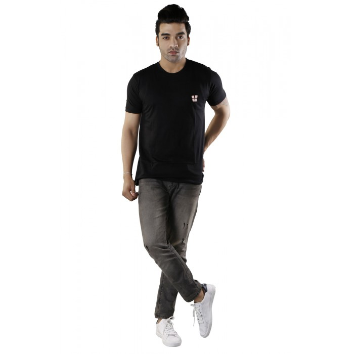 Black Plain Round Neck T-Shirts
