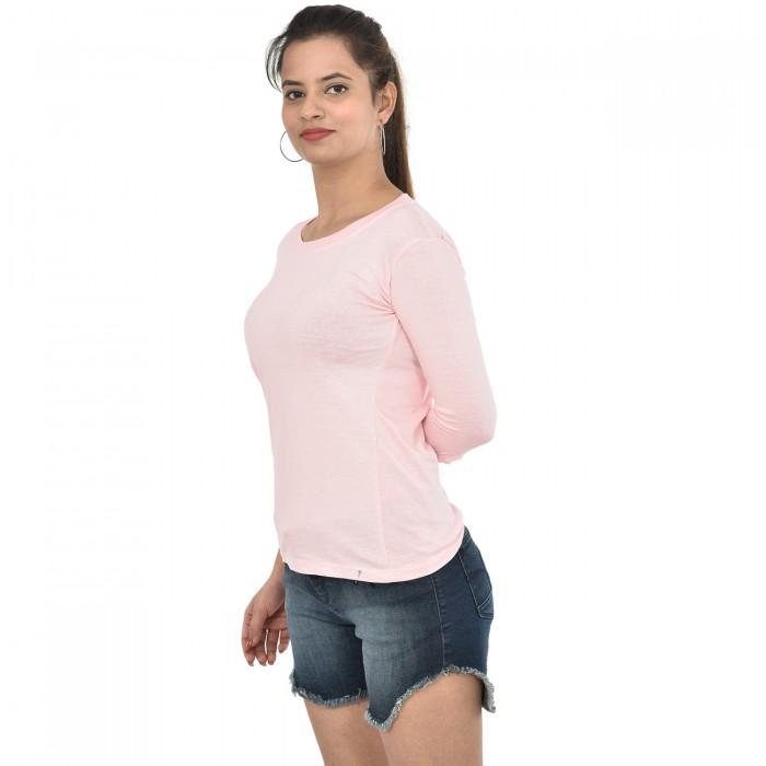 Baby Pink Women 3/4  Sleeve  Top