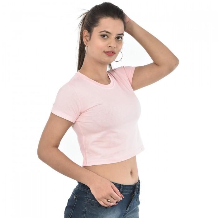 Baby Pink  Women Crop Top