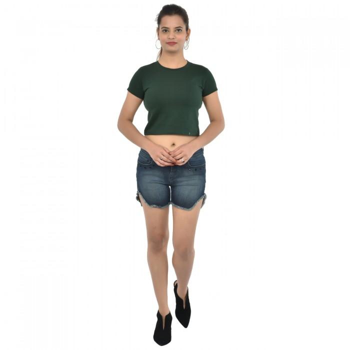 Green Women's Crop Top