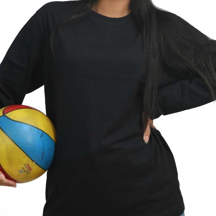 Black Women Round Neck Full Sleeve T-Shirt