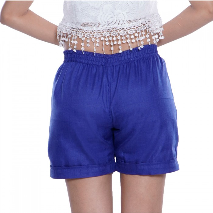 Blue Cotton Shorts for Girls