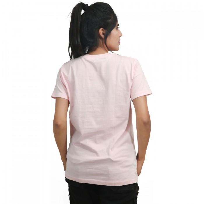 Baby Pink Girls Half Sleeve T-Shirt