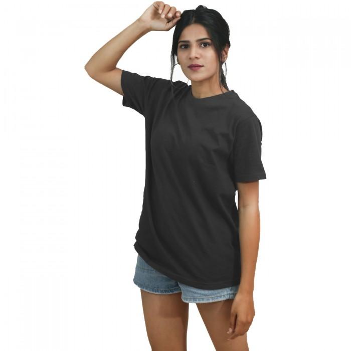 Grey Girls Half Sleeve T-Shirt