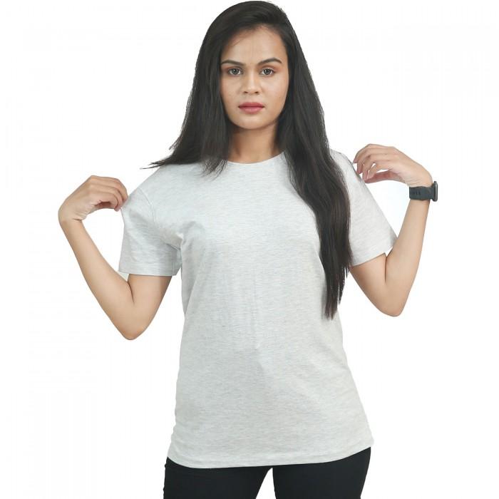 Melange Girls Half Sleeve T-Shirt