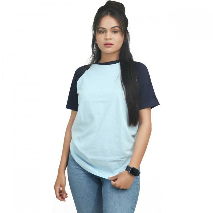 Ice Blue Women Raglan T-Shirt
