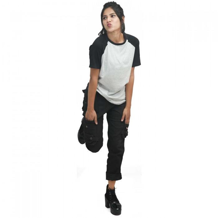 White Black Women Raglan T-Shirt