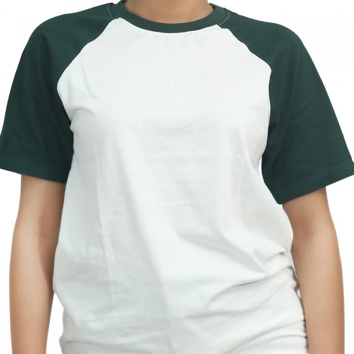 White Green Women Raglan T-Shirt
