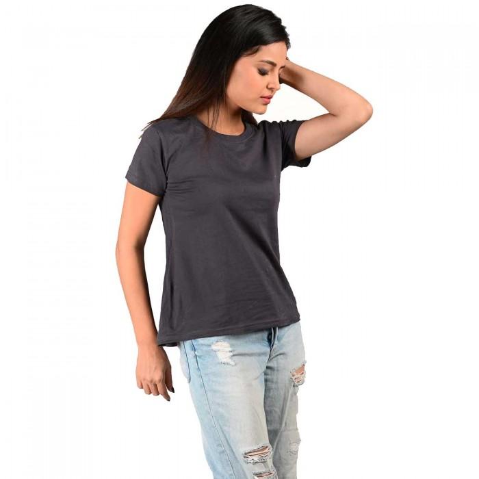 Grey Women Half Sleeve Top